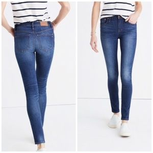 "MADEWELL 9"" High Rise Skinny Jeans Polly Wash {L8}"